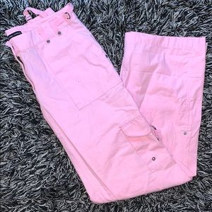PINK CARGO PANTS FROM NEW YORK AND COMPANY